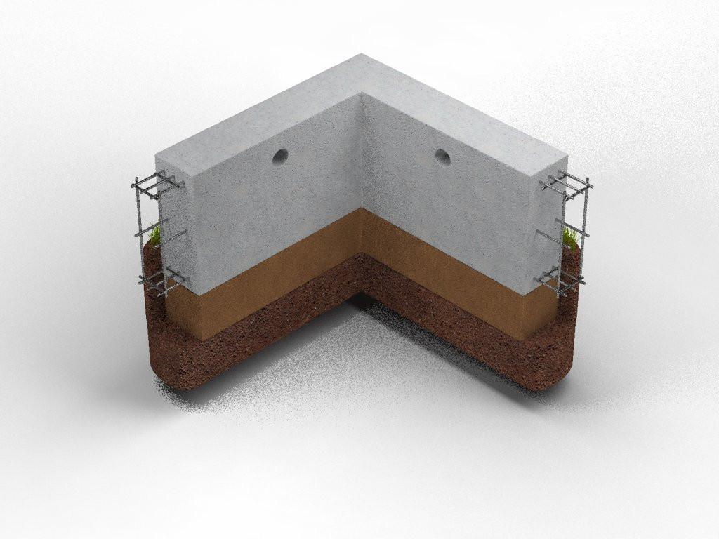 Забор на ленточном фундаменте 2