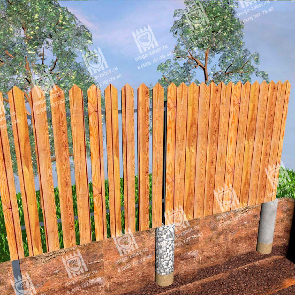 Деревянные заборы 8