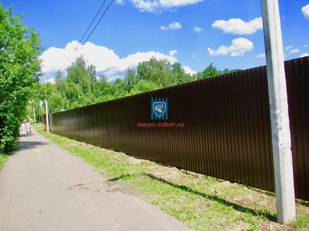 Установка забора из профлиста в Долгопрудном - 215 000руб 37