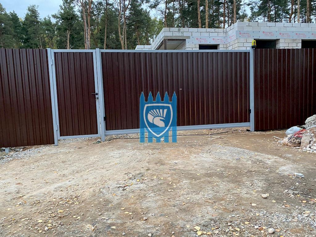 Установка откатных автоматических ворот в Балашихе 8
